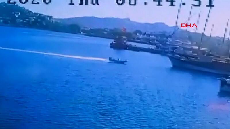 Bodrum'daki ölümlü deniz kazası kamerada