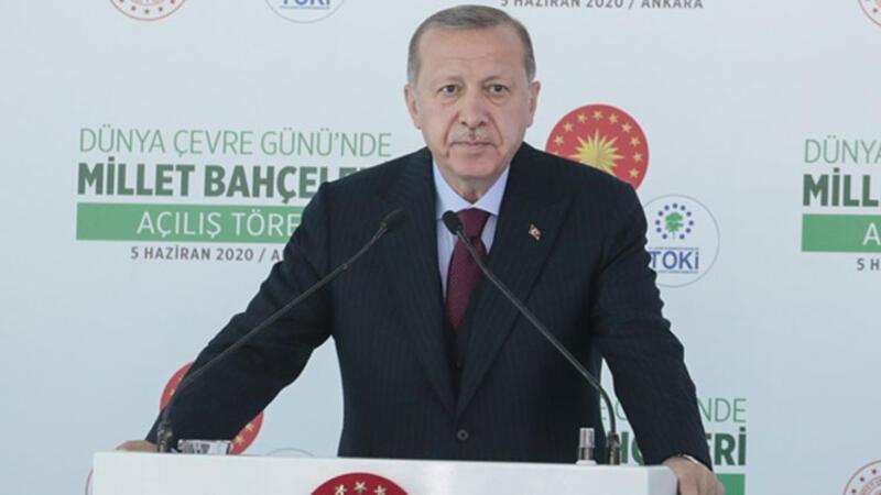 Cumhurbaşkanı Erdoğan, Millet Bahçeleri'nin açılış töreninde konuşuyor