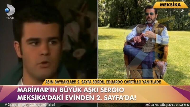 Efsane dizi Marimar'ın başrol oyuncularından Eduardo Capetillo, 2. Sayfa programına konuk oldu