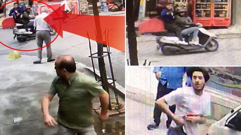 Şişli'de pompalı tüfekli, motosikletli saldırganlar kamerada