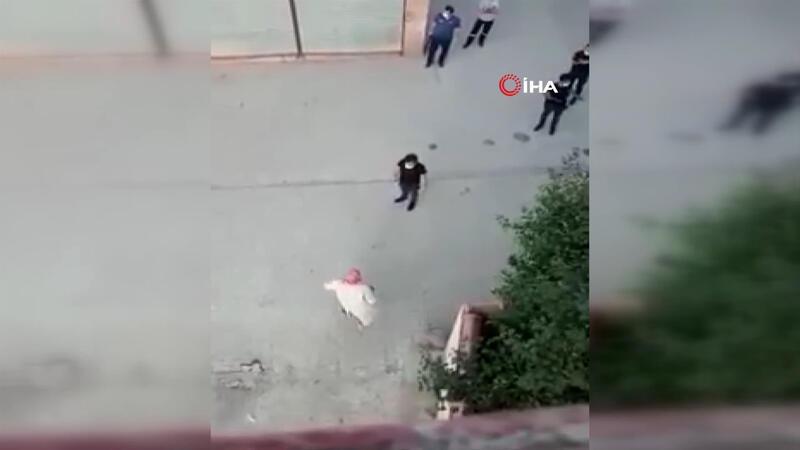 Karantinadan kaçan yaşlı adamı, polis yakaladı