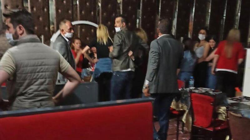 Ankara'da eğlence merkezine koronavirüs baskını