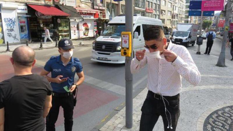 Kadıköy'de maske denetimi; takmayanlara ceza