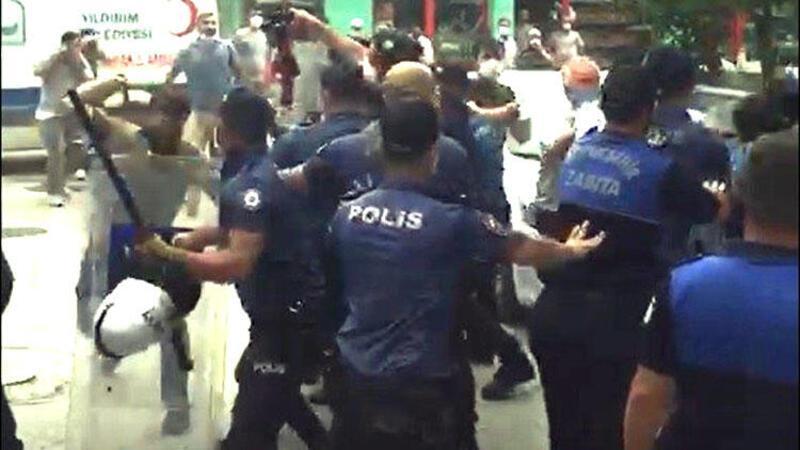 Bursa'da kaçak bina yıkımında olaylar çıktı! İşte o anlar...
