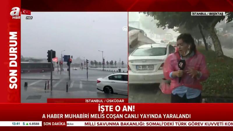 A Haber muhabiri canlı yayında yaralandı! İşte o anlar...