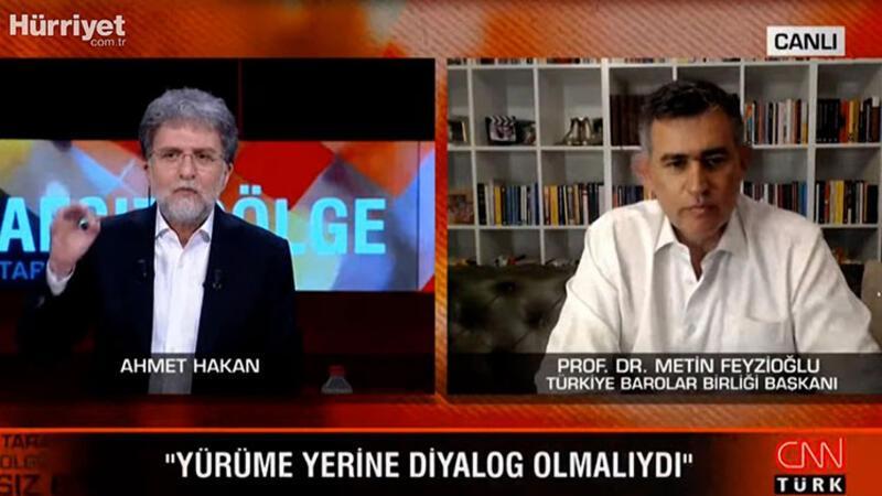 TBB Başkanı Feyzioğlu CNN TÜRK'te açıkladı: Yürüme yerine diyalog olmalıydı
