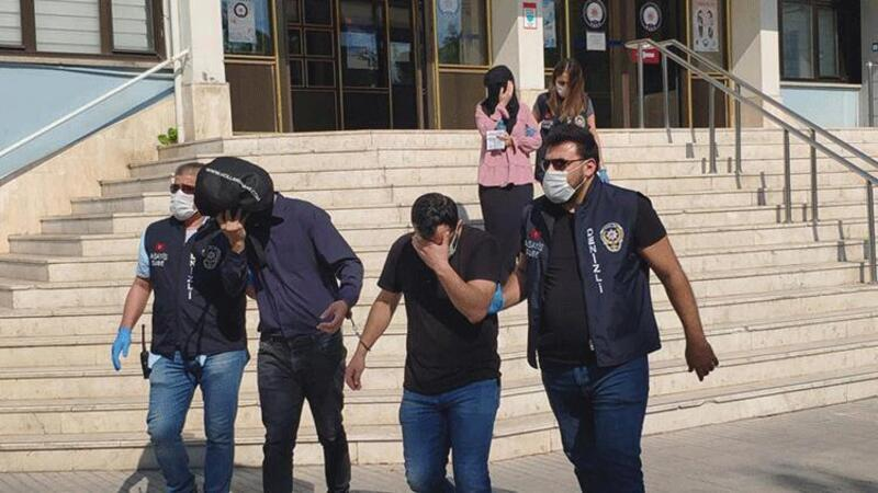 Denizli'de telefondan eskort dolandırıcılığına 7 gözaltı