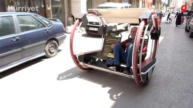 Cezaevinde öğrendiği bilgilerle kendine elektrikli araç yaptı