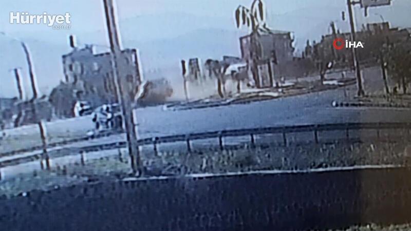 11 kişinin yaralandığı feci kaza güvenlik kamerasında