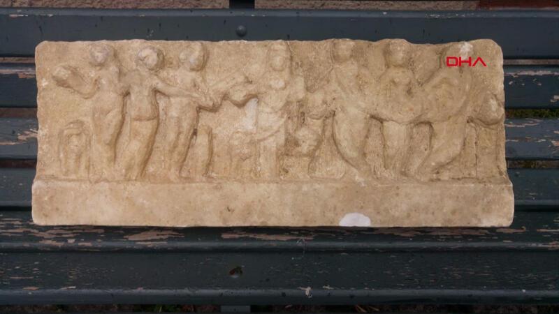 Ataşehir'de evin bahçesinde Roma Dönemi eseri bulundu