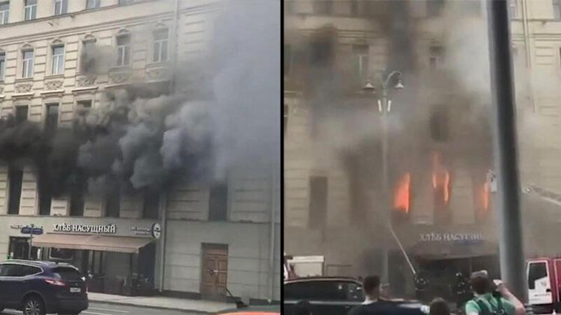 Moskova'da korkutan yangın