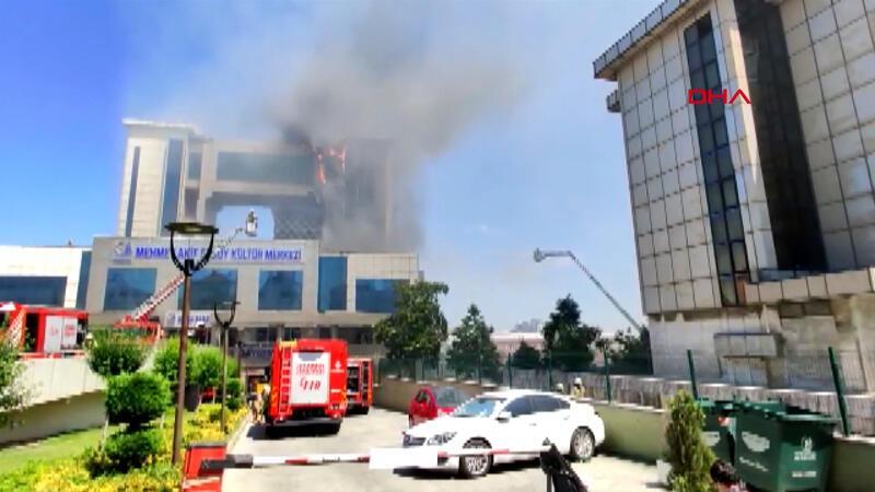 Bayrampaşa'da Kültür Merkezi'nde yangın