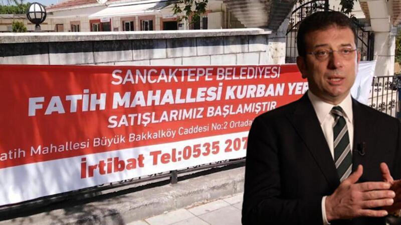 Sancaktepe Belediye Başkanı Şeyma Döğücü'den İmamoğlu'na pankart sitemi