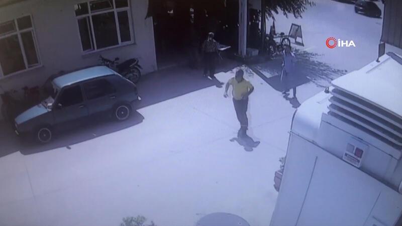 Patlama anında yaşananlar çevre mahallelerde bulunan güvenlik kameralarına yansıdı