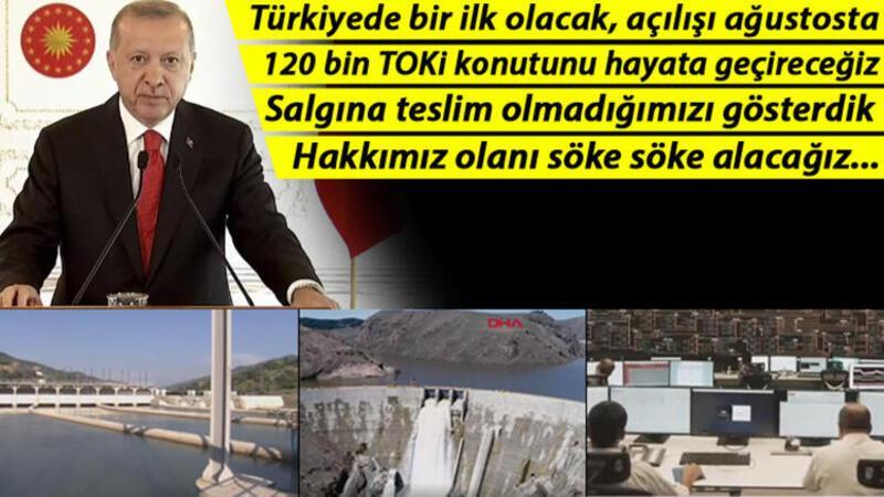 Son dakika... Cumhurbaşkanı Erdoğan: 'Salgına teslim olmadığımızı gösterdik'