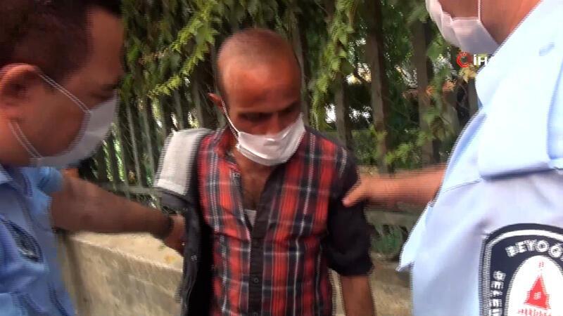 'Kolum yanık' diyerek duygu sömürüsü yapan dilenci suçüstü yakalandı