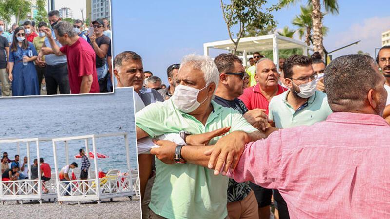 Antalya' Konyaaltı Sahili'nde 'loca' arbedesi