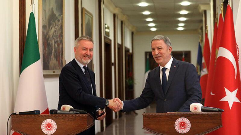 Milli Savunma Bakanı Hulusi Akar Akar, İtalya Savunma Bakanı Lorenzo Guerini ile görüştü