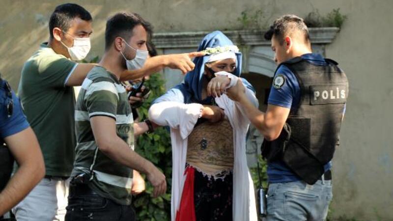 Son dakika haber... Dolmabahçe'de hareketli dakikalar: Şüpheli kadın gözaltına alındı