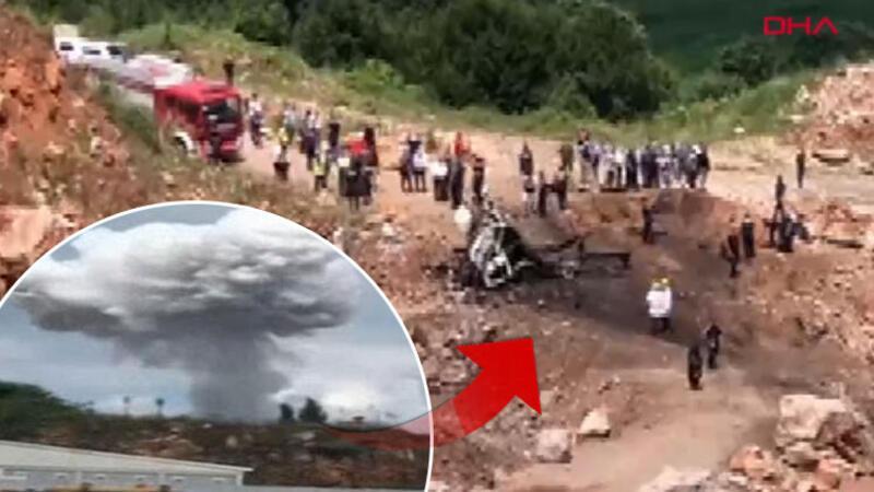 Sakarya'da havai fişek taşıyan kamyonda patlama