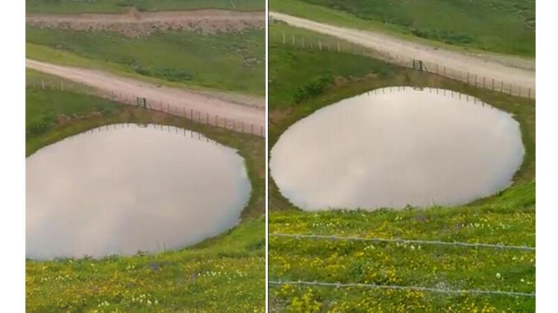 Bakan Kurum görüntüleri paylaştı! Dipsiz Göl yeniden hayat buldu