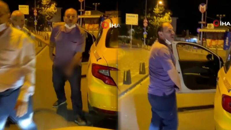 İstanbul'un göbeğinde taksici rezaleti kamerada