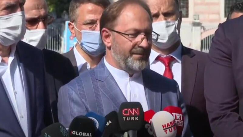 Bakanı Ersoy ile Diyanet İşleri Başkanı Erbaş Ayasofya Cami ile ilgili açıklamalarda bulundu