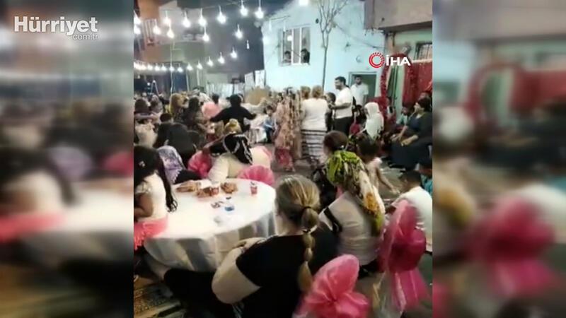 """İstanbul'da dansözlü düğün eğlencesinde """"pes"""" dedirten görüntüler"""