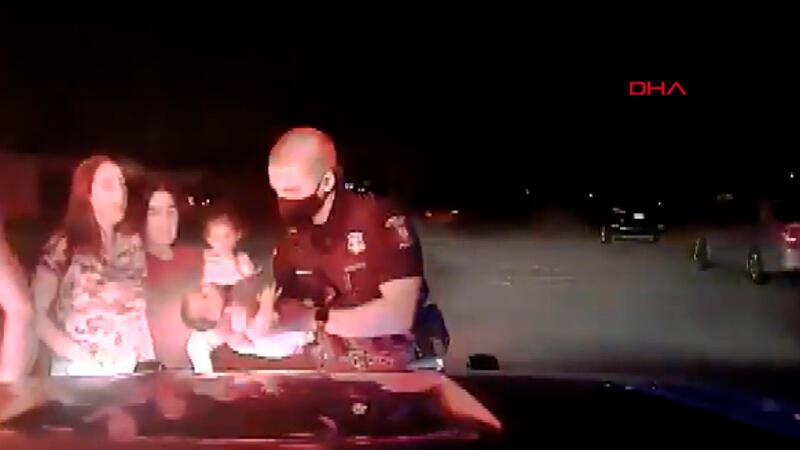 ABD'de polis, 3 haftalık bebeği ölümden böyle kurtardı