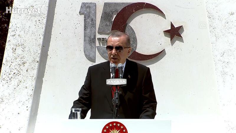 """Cumhurbaşkanı Erdoğan, """"15 Temmuz Demokrasi ve Milli  Birlik Günü"""" kapsamında TBMM'deki törende konuştu"""