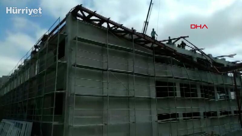 Kastamonu'da spor salonu inşaatında çökme, 1 ölü 1 yaralı