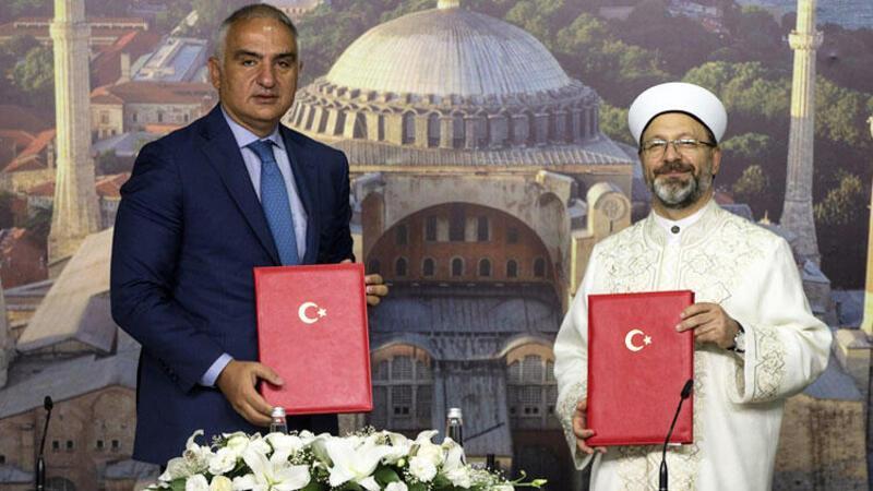 Son dakika haberler... Ayasofya Camii protokolü imzalandı