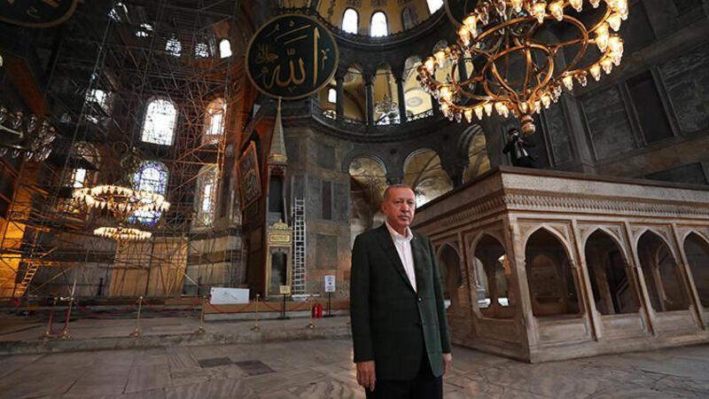 Cumhurbaşkanı Erdoğan'dan sürpriz Ayasofya ziyareti
