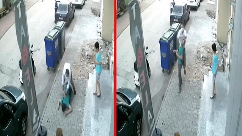 Otomobilden inip tekme tokat saldırdılar