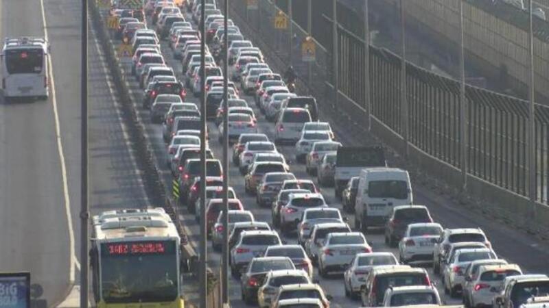 Son dakika haber... Haliç'te trafik durma noktasında