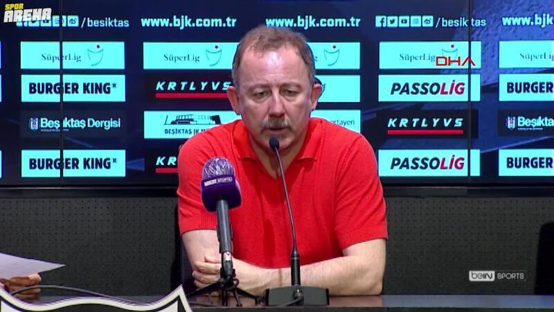 Beşiktaş'ın teknik direktörü Sergen Yalçın'dan maç sonu açıklaması