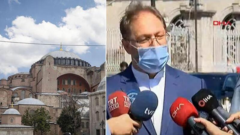 Diyanet İşleri Başkanı Ali Erbaş, Ayasofya önünde açıklama yaptı