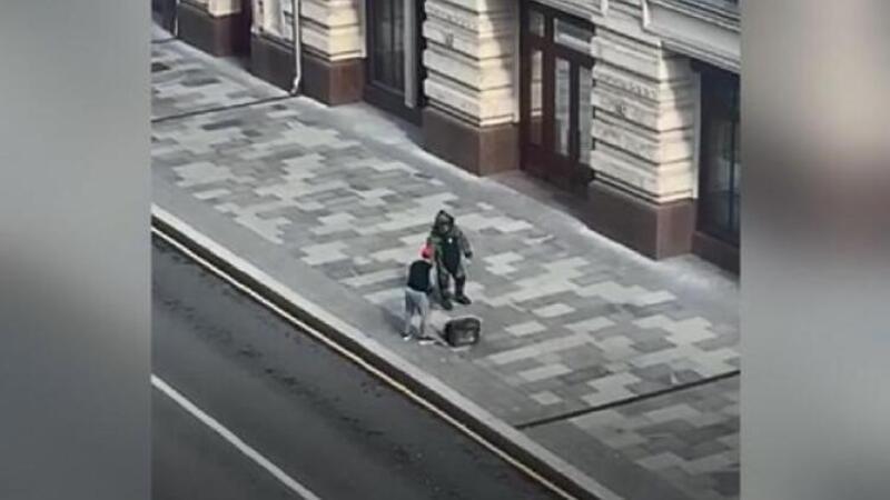 Rusya'da patlatılan şüpheli çantadan pizza çıktı