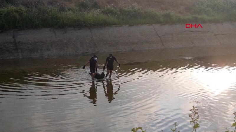 Köpeği kurtarmak için kanala atlayan gencin cansız bedeni bulundu