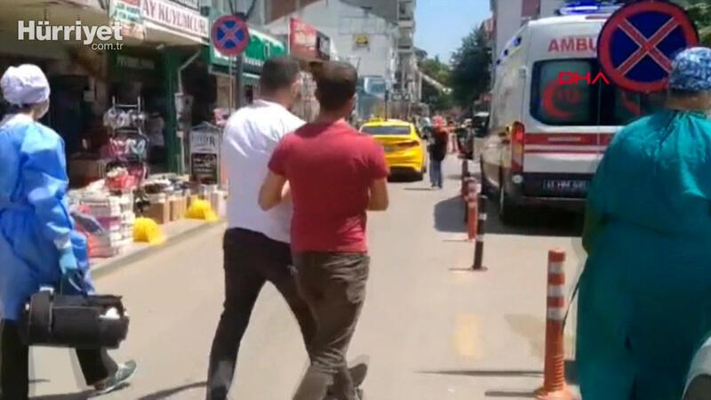Maske takmasını isteyen mağaza müdürünü dövdü
