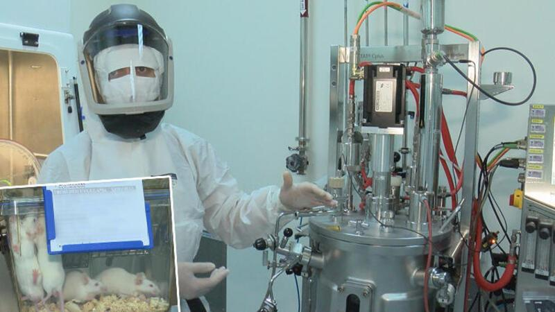 Kovid 19 için hem ilaç üreten hem aşı geliştiren tek tesisi ilk kez görüntülendi