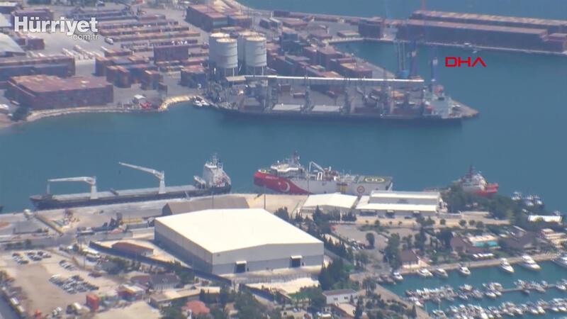 Oruç Reis gemisi, Antalya Gümrük Müdürlüğü Limanı'na demir attı