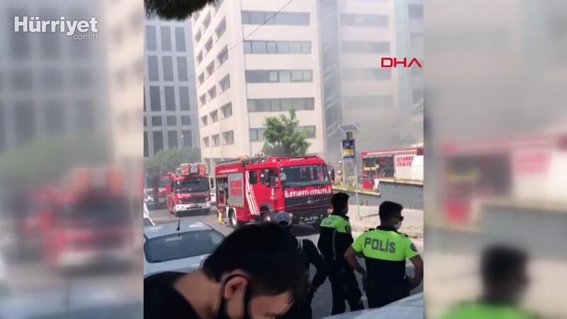 Gayrettepe'de trafoda patlama sonrası yangın çıktı
