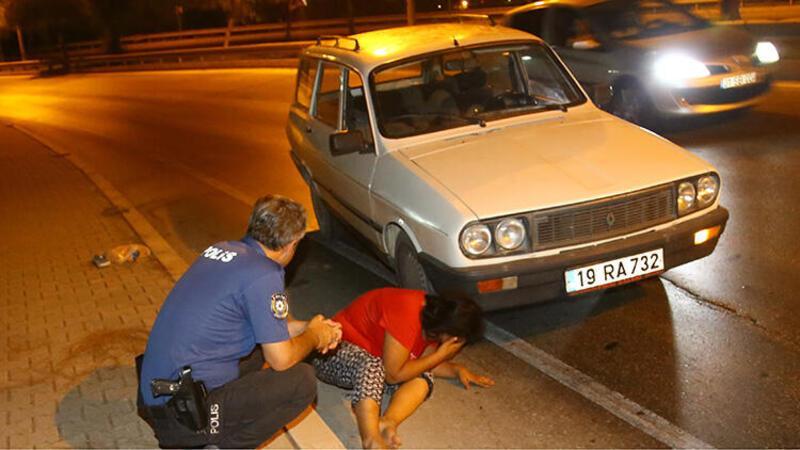 Adana'da darp edilip, otomobilden atılan kadın yaralandı