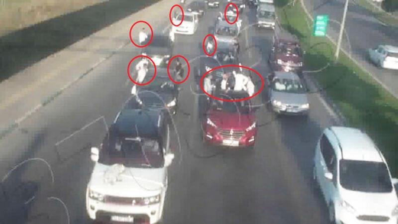 Düğün konvoyundaki 27 araç ve 8 sürücüye 9 bin TL ceza