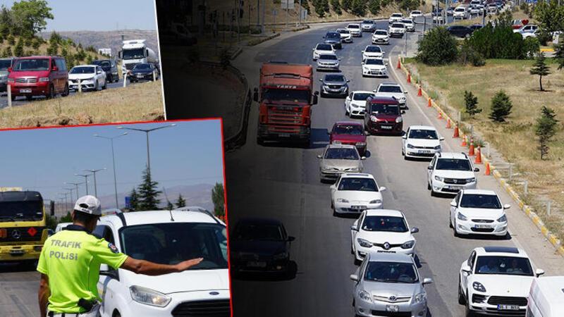 Kırıkkale'deki 'kilit kavşak'ta trafik yoğunluğu başladı