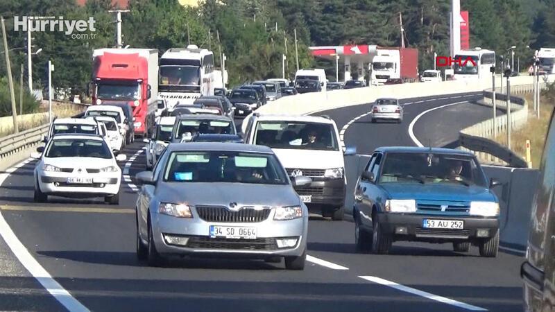 Bolu Dağı'nda bayram trafiği