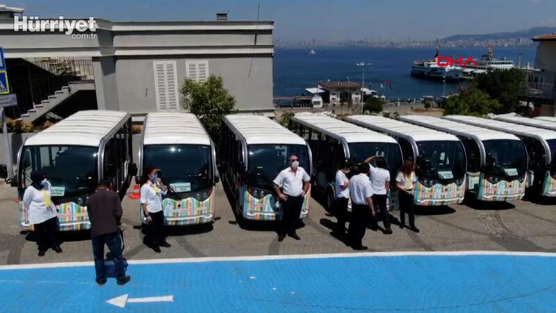 Adalar'da elektrikli araçlar seferlere başlıyor