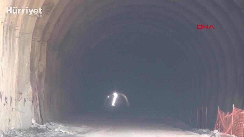 Zonguldak'ta Mithatpaşa Tünelleri inşaatında sona yaklaşıldı