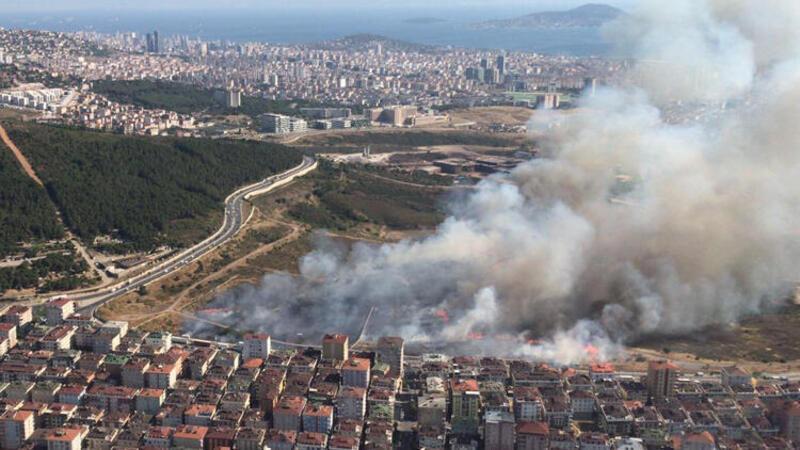 Son dakika haber... Maltepe'de otluk alanda yangın
